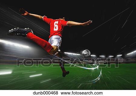 照片 - 英式足球表演者, 踢球 dunb000468 - 搜寻