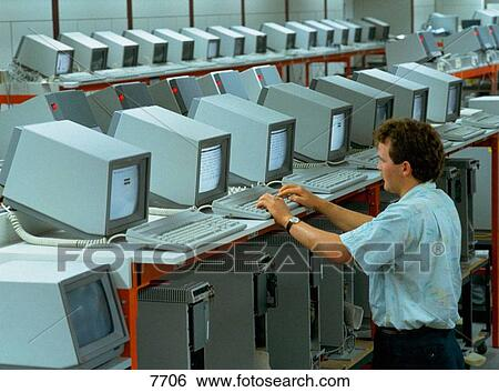 Stock Images Of Computer Manufacturing. System Test Engineer With