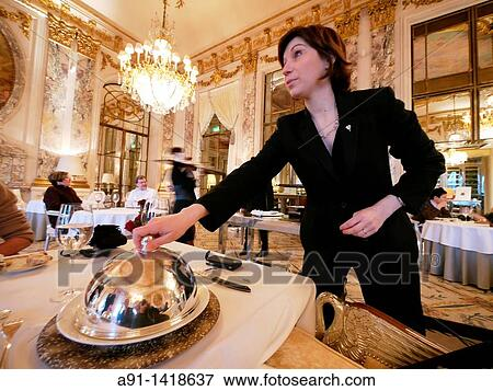 picture of france ile de france paris three stars restaurant le meurice in hotel meurice. Black Bedroom Furniture Sets. Home Design Ideas