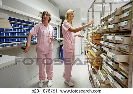 Preparation Of S Chaotic Storage Pharmacy Hospital Donostia San Sebastian Gipuzkoa Basque Country Spain