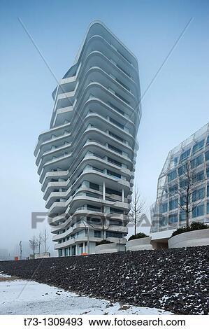 Stock Photo of Marco Polo Tower, Hamburg, Germany. t73-1309493 ...