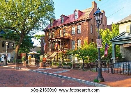 Stock Photography The Historic Governor Calvert House Hotel Annapolis Maryland Fotosearch