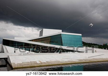 Stock Photo Of The New Opera House, The Home Of The Norwegian National  Opera And Ballet, And The National Opera Theatre In Norway.