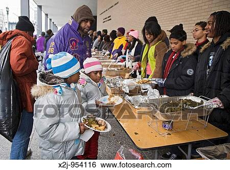 Perfect Washington, DC   Volunteers Serve Food To The Hungry At An Outdoor Soup  Kitchen The Volunteer Project Was One Of Many Martin Luther King Day  Community ...