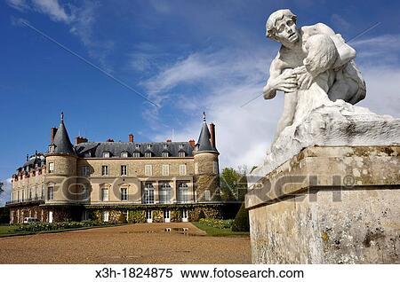 Banque d 39 image les mort de procris sculpture par for Parc des yvelines