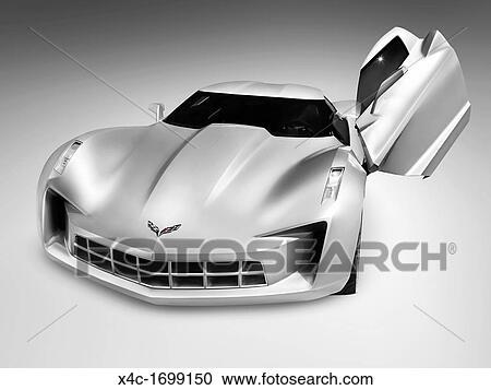 banques de photographies argent chevrolet corvette stingray concept voiture sport. Black Bedroom Furniture Sets. Home Design Ideas