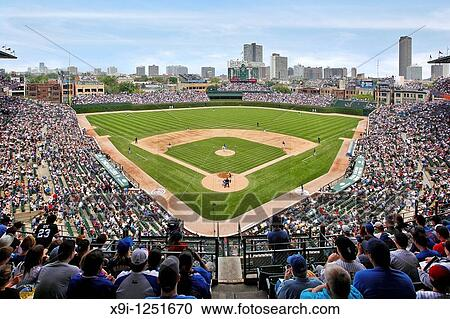 Superb Stock Photography   View From Upper Deck Behind Home Plate Of Chicago Cubs  Vs Sox At Part 17