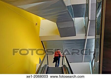 Colección de foto - escalera mecánica, Disseny, cubo, barcelona ...