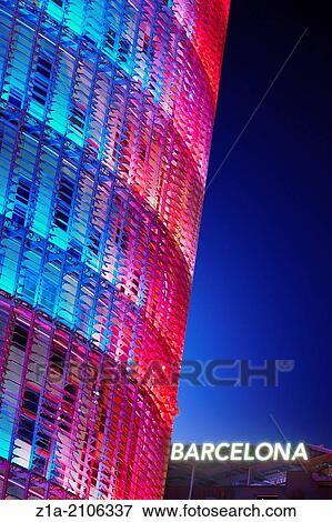 Foto torre agbar corporativo sede de el agua for Oficinas aguas de barcelona