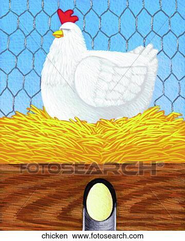 手绘图 - 小鸡