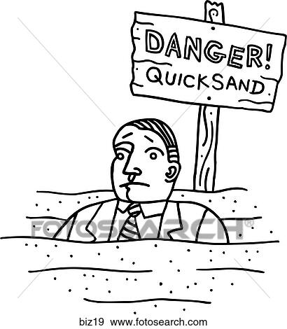 Stock Illustration of Quicksand! - B&W biz19 - Search Vector Clipart, Drawings, Print ...