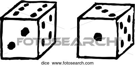 Clipart of Dice dice - Search Clip Art, Illustration Murals ...