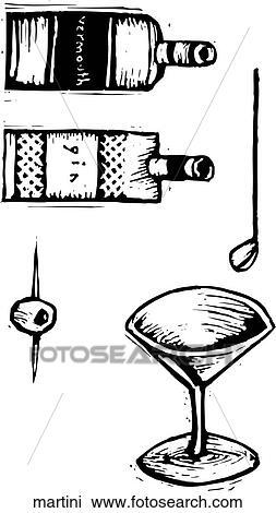 clipart martini martini suche clip art illustration. Black Bedroom Furniture Sets. Home Design Ideas
