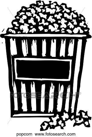 Clipart of Popcorn popcorn - Search Clip Art, Illustration Murals ...