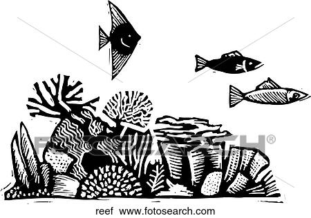 Clipart Of Coral Reef Reef Search Clip Art Illustration