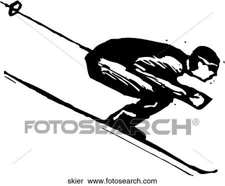 Skier Clipart EPS Images. 11,695 skier clip art vector ...