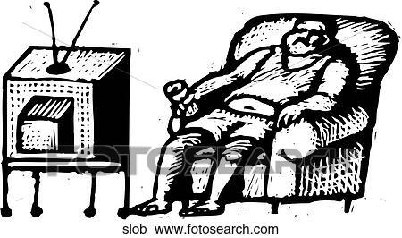 Clipart Of Slob Slob Search Clip Art Illustration