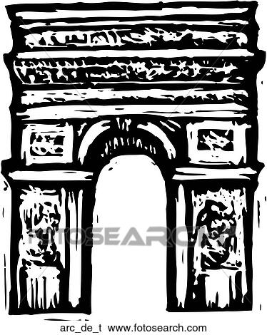 Clip Art of Arc de Triomphe arc_de_t - Search Clipart ...