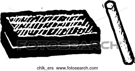 eraser clipart black and white. clip art - chalk \u0026 eraser. fotosearch search clipart, illustration posters, drawings eraser clipart black and white