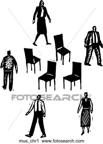 Clipart of musical chairs 1 mus chr1 search clip art for Chaise musicale