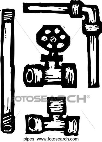 Clip Art of Pipes pipes - Search Clipart, Illustration Posters ...