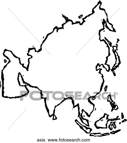 Clipart of Asia asia - Search Clip Art, Illustration Murals ...