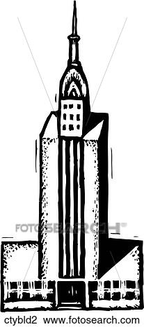 Clipart of City Building 2 ctybld2 Search Clip Art Illustration