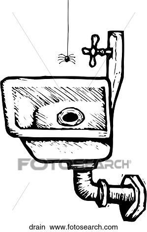 Clipart Of Drain Drain Search Clip Art Illustration