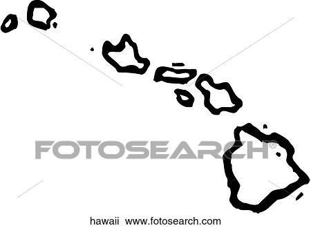 Hawaii Islands Drawing Hawaii