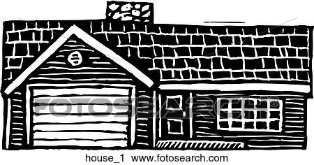 剪贴画 房子, 1