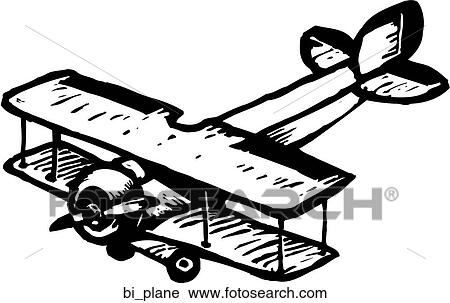 Clipart of Bi-plane bi_plane - Search Clip Art, Illustration ...