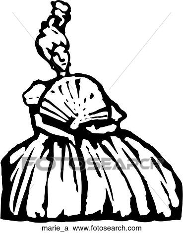 Clipart Of Marie Antoinette Marie A Search Clip Art