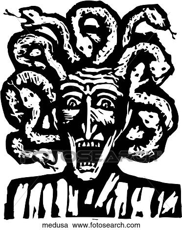 clipart of medusa medusa search clip art illustration murals rh fotosearch com medusa head clipart Medusa Cartoon
