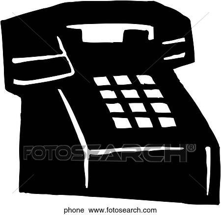 Clipart of Phone phone - Search Clip Art, Illustration Murals ...