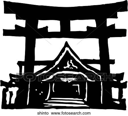 Shinto Shrine Drawing Shinto Shrine