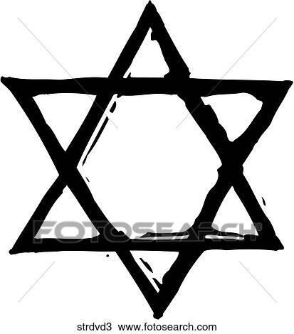 clipart of star of david 3 strdvd3 search clip art illustration rh fotosearch com