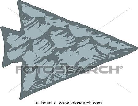 Clipart of Arrowhead a_head_c - Search Clip Art, Illustration ...