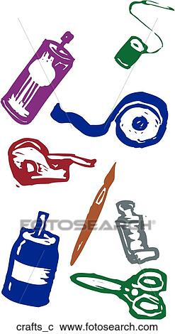 Clipart of Crafts crafts_c - Search Clip Art, Illustration Murals ...