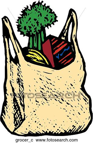 clipart of groceries grocer c search clip art illustration murals rh fotosearch com grocery clip art photos buying groceries clipart