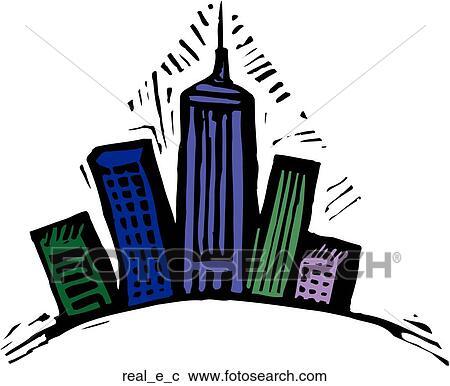Clipart of real estate real e c search clip art for Clipart estate