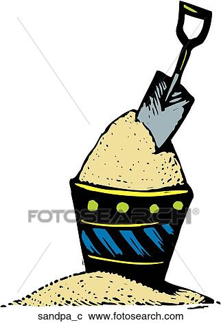 Clipart of Sand Pail sandpa_c - Search Clip Art, Illustration ...