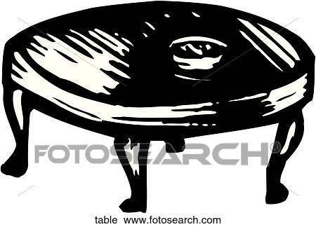 Esstisch clipart  Tisch Clip Art Lizenzfrei. 140.579 tisch Clipart Vektor EPS ...