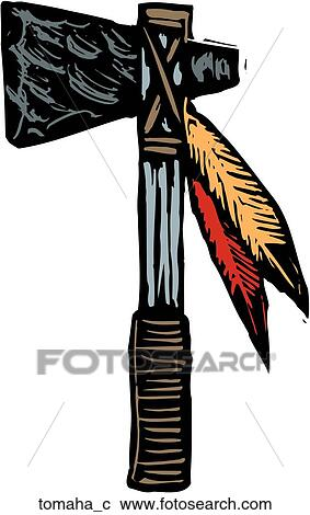 Clipart of Tomahawk tomaha_c - Search Clip Art, Illustration ...