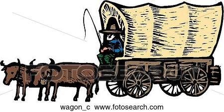 Covered wagon Clip Art and Illustration. 219 covered wagon clipart ...