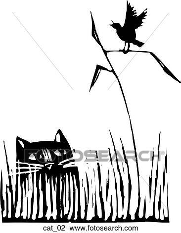 Clipart gatto 02 cat 02 cerca clipart illustrazioni for Gatto clipart