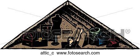 Clipart Of Attic Attic C Search Clip Art Illustration