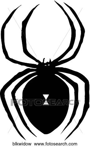 Clip Art of Black Widow blkwidow - Search Clipart, Illustration ...