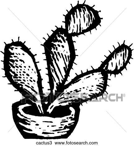 Clipart of Cactus 3 cactus3 - Search Clip Art, Illustration Murals ...