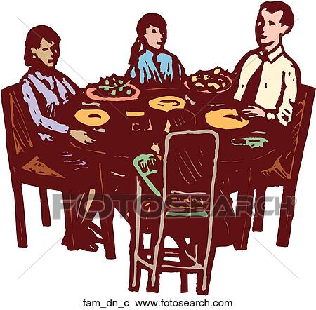 Clipart of Family Dinner fam_dn_c - Search Clip Art ...