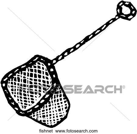 Clip Art of Fish Net fishnet - Search Clipart ...